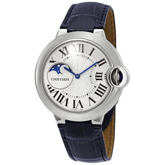 Cartier Ballon Bleu Moonphase Automatic Silver Dial Ladies Watch WSBB0020 | Joma Shop