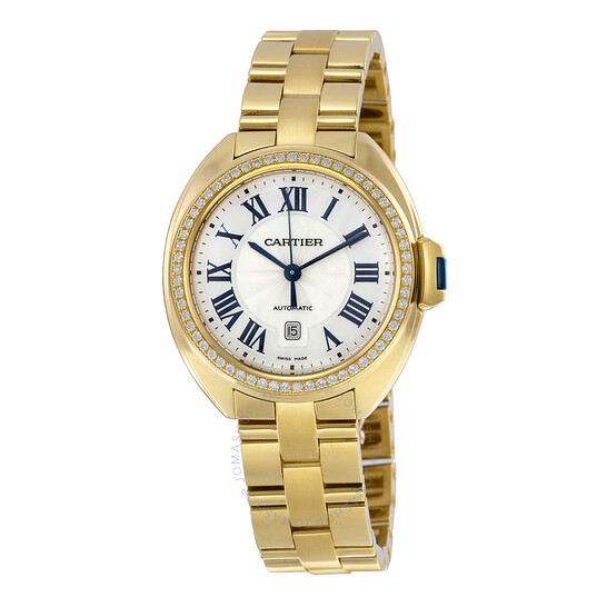 Cartier Cle Flinque Dial 18kt Yellow Gold Ladies Watch WJCL0004 | Joma Shop