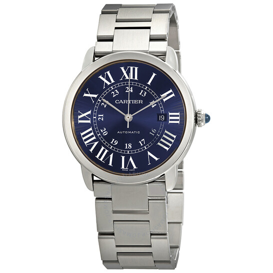 Cartier Ronde Solo Automatic Blue Dial Men's Watch WSRN0023 | Joma Shop