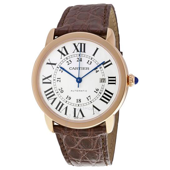 Cartier Ronde Solo de Cartier XL Automatic Silver Dial 18 kt Rose Gold Men's Watch W6701009 | Joma Shop
