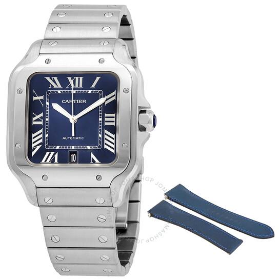 Cartier Santos De Cartier Blue Dial Men's Watch WSSA0030 | Joma Shop