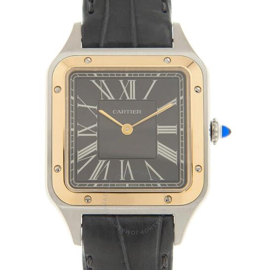 """Cartier Santos-Dumont """"Le 14 bis"""" Automatic Grey Dial Men's Watch W2SA0015   Joma Shop"""