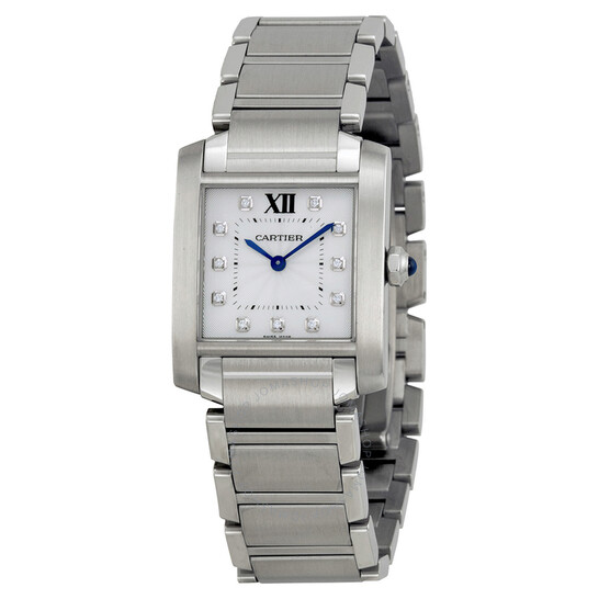 Cartier Tank Francaise Silver Dial Ladies Watch WE110007   Joma Shop
