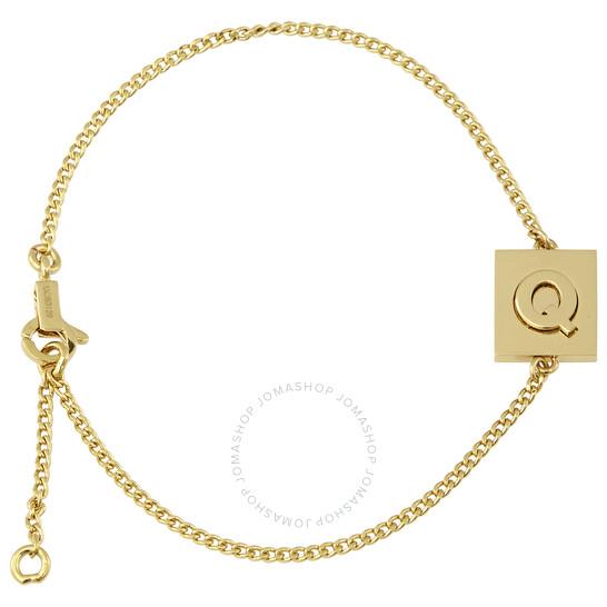 Celine Ladies Brass Alphabet Q Bracelet With Gold Finish | Joma Shop
