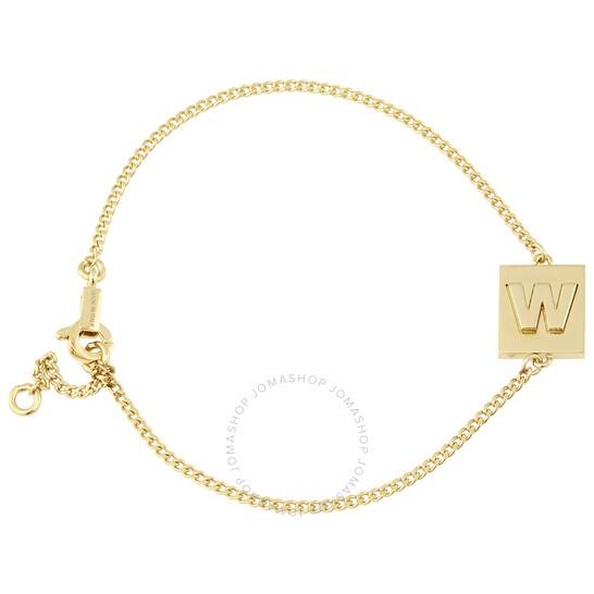 Celine Ladies Brass Alphabet W Bracelet With Gold Finish   Joma Shop