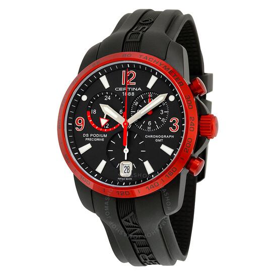 Certina DS Podium Chronograph Aluminum Rubber Men's Watch