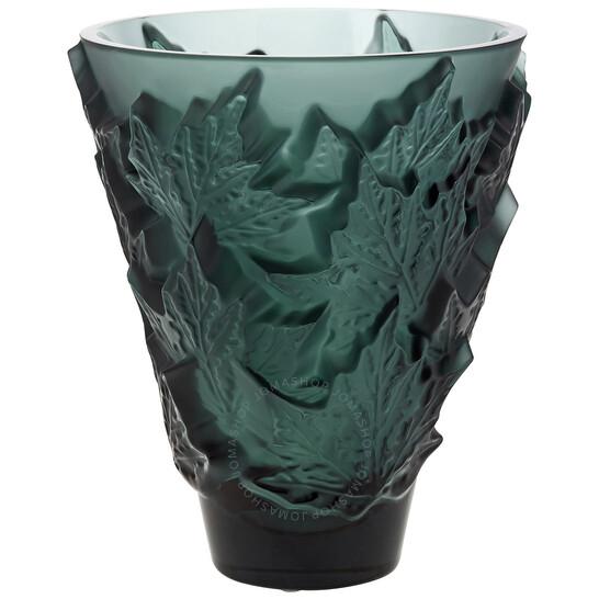 Lalique Champs-Elysees Small Vase Deep Green Crystal   Joma Shop