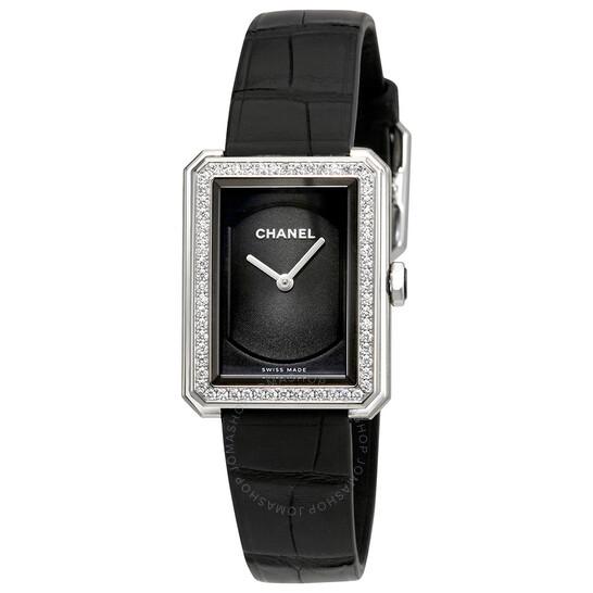 Chanel Boy-Friend Black Guilloche Dial Ladies Watch H4883 | Joma Shop