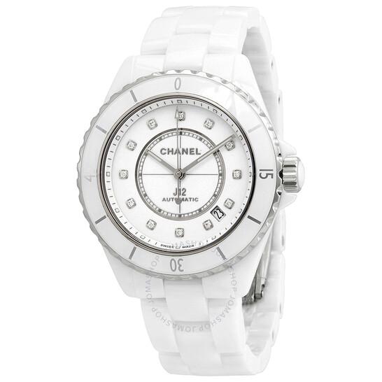 Chanel J12 Diamond White Dial Ladies Watch H5705   Joma Shop