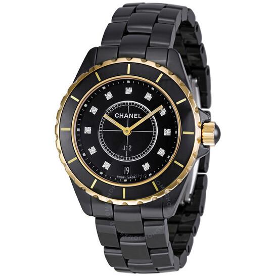 Chanel J12 Quartz Black Ceramic Unisex Watch H2544   Joma Shop