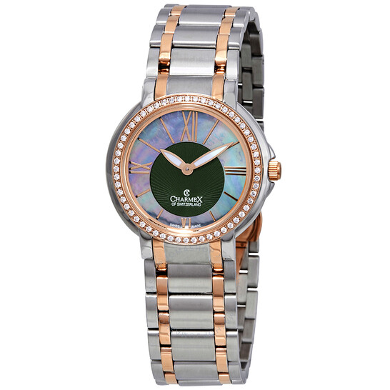 Charmex Crystal Mother of Pearl Dial Two-tone Ladies Watch 6429   Joma Shop