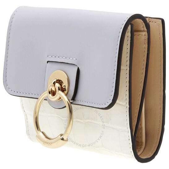 Chloe Small Crocodile Embossed Leather Wallet