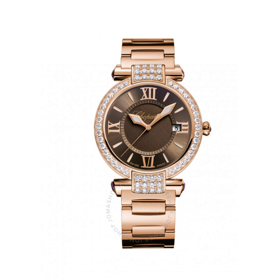 Chopard Imperiale Brown Dial 18 Carat Rose Gold Ladies Watch 384221-5012 | Joma Shop