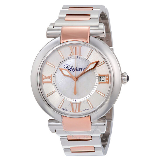 Chopard Imperiale Silver Mother of Pearl Dial Stainless Steel and Rose Gold Men's Watch 388531-6007 | Joma Shop