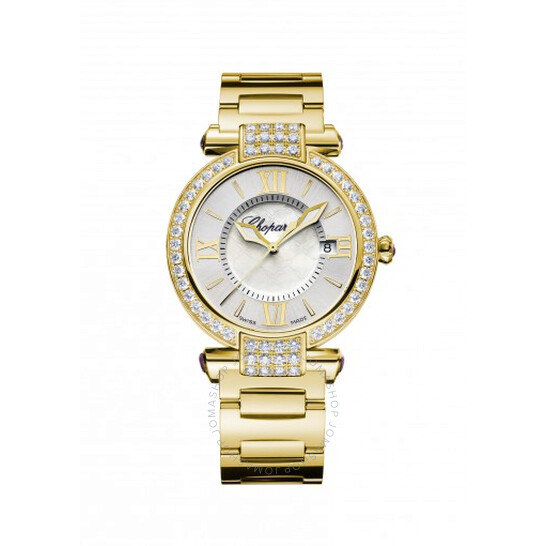 Chopard Imperiale Silver/Mother of Pearl Dial 18K Yellow Gold Ladies Watch 384221-0004 | Joma Shop