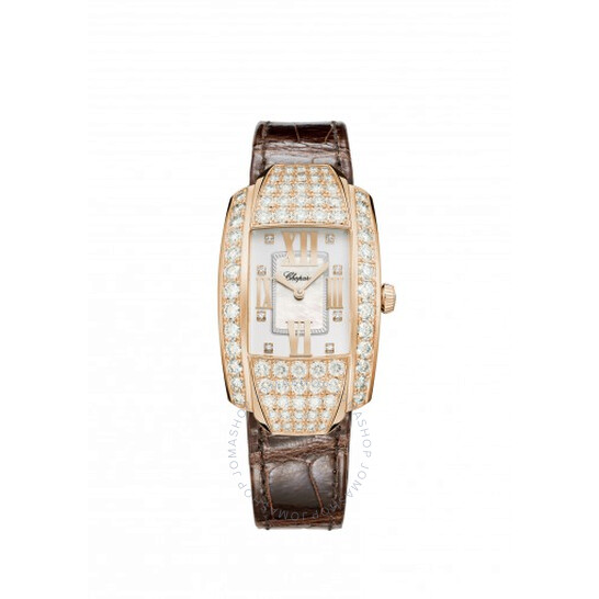 Chopard La Strada Quartz Mother of Pearl Diamond Dial 18K Rose Gold Ladies Watch 419403-5004   Joma Shop