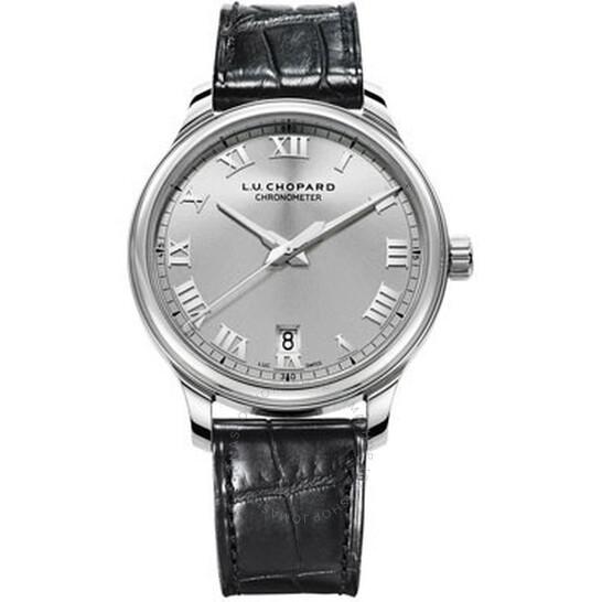Chopard L.U.C. 1937 Classic Automatic Silver Dial Black Leather Men's Watch 168544-3002 | Joma Shop