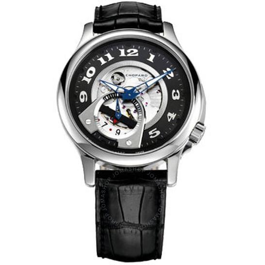 Chopard L.U.C. Tech Twist Black Open-worked Dial Stainless Steel Men's Watch 1684 | Joma Shop