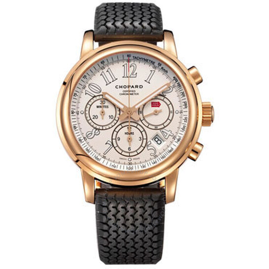 Chopard Mille Miglia Chronograph White Dial 18k Rose Gold Men's Watch 161274-5002 | Joma Shop