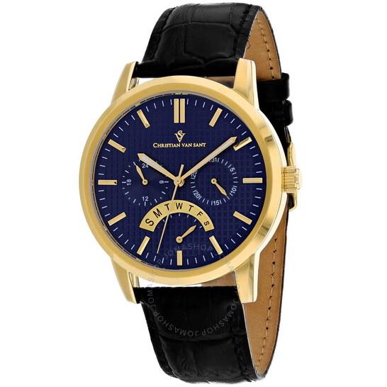 Christian Van Sant Alden Quartz Blue Dial Men's Watch CV0326 | Joma Shop