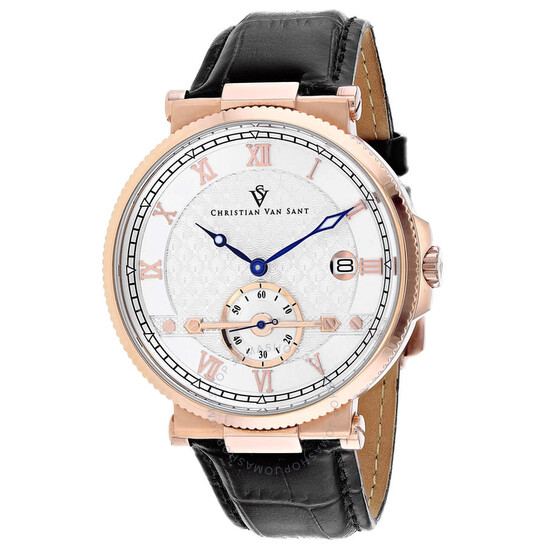 Christian Van Sant Clepsydra Quartz Silver Dial Men's Watch CV1703 | Joma Shop