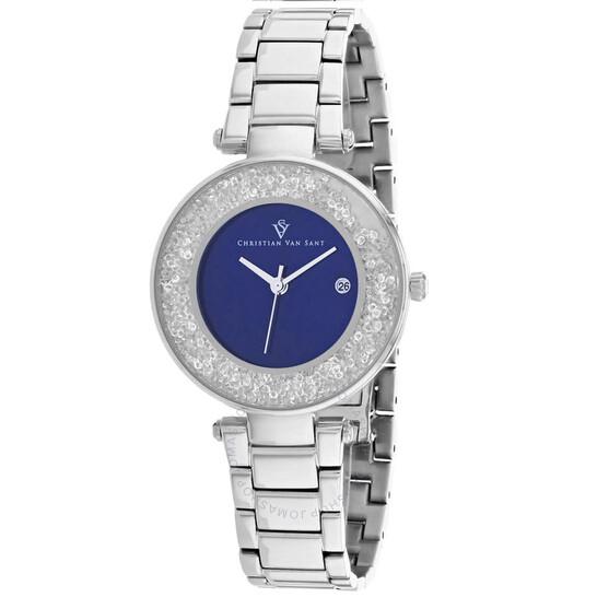 Christian Van Sant Dazzle Quartz Blue Dial Ladies Watch CV1212   Joma Shop