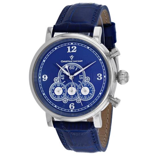 Christian Van Sant Dominion Chronograph Quartz Blue Dial Men's Watch CV0712   Joma Shop