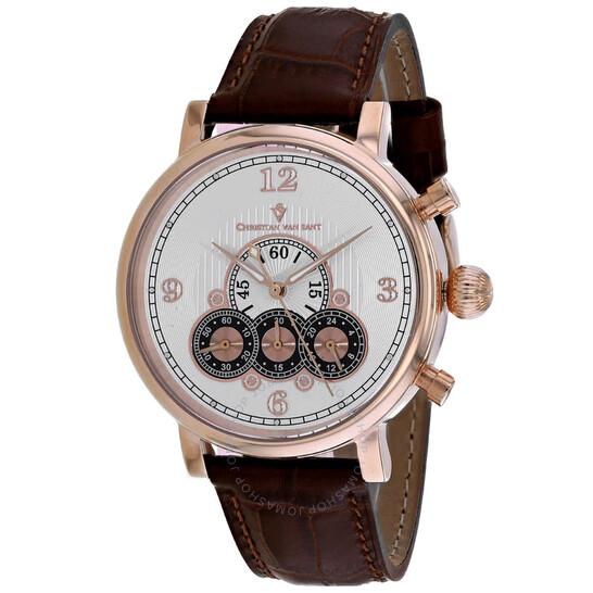 Christian Van Sant Dominion Chronograph Quartz Silver Dial Men's Watch CV0715 | Joma Shop