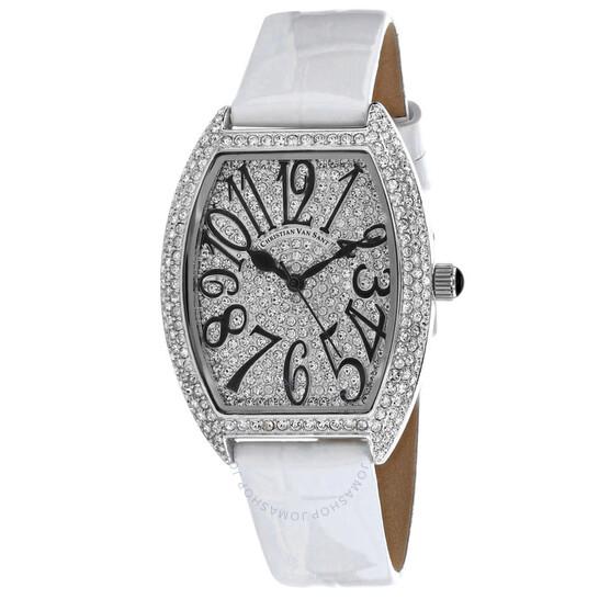 Christian Van Sant Elegant Quartz White Dial Ladies Watch CV4821W   Joma Shop