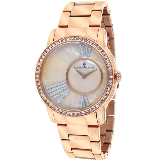 Christian Van Sant Exquisite Mother of Pearl Dial Ladies Watch CV3613 | Joma Shop