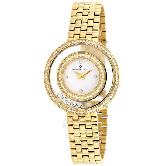 Christian Van Sant Gracieuse Quartz White Dial Ladies Watch CV4831 | Joma Shop