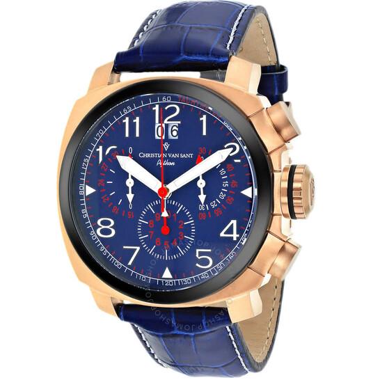 Christian Van Sant Grand Python Quartz Blue Dial Men's Watch CV3AU5 | Joma Shop