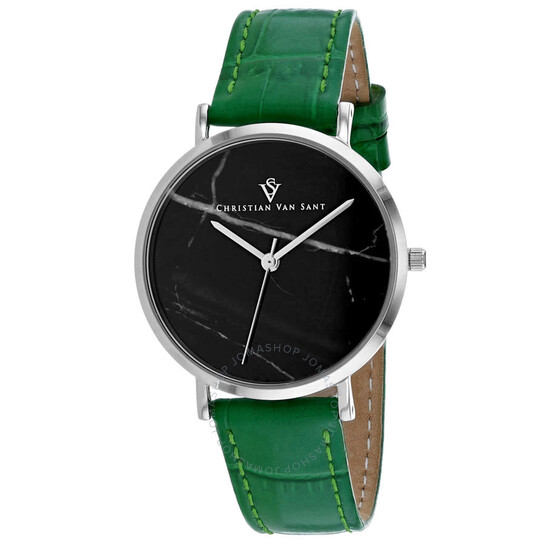 Christian Van Sant Lotus Quartz Black Dial Ladies Watch CV0421   Joma Shop