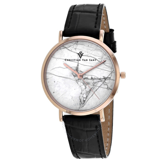Christian Van Sant Lotus White Dial Ladies Watch CV0422Bk | Joma Shop