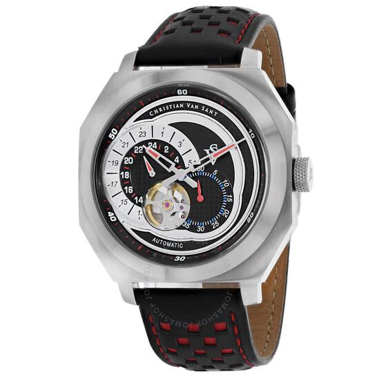Christian Van Sant Machina Automatic Black Dial Men's Watch CV0560 | Joma Shop