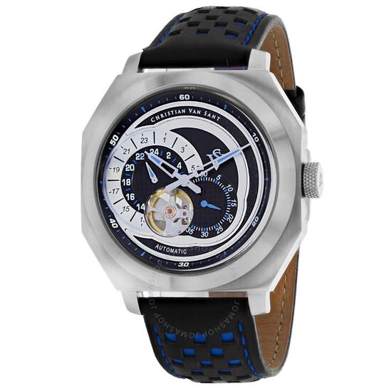 Christian Van Sant Machina Automatic Black Dial Men's Watch CV0562 | Joma Shop