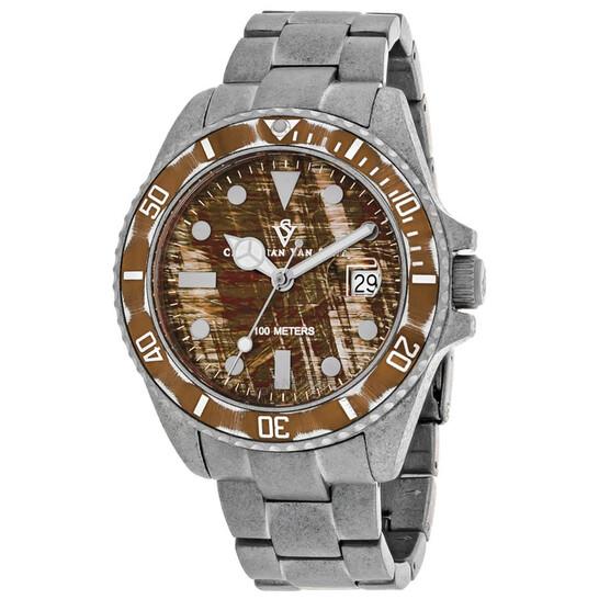 Christian Van Sant Montego Vintage Quartz Brown Dial Men's Watch CV5101 | Joma Shop