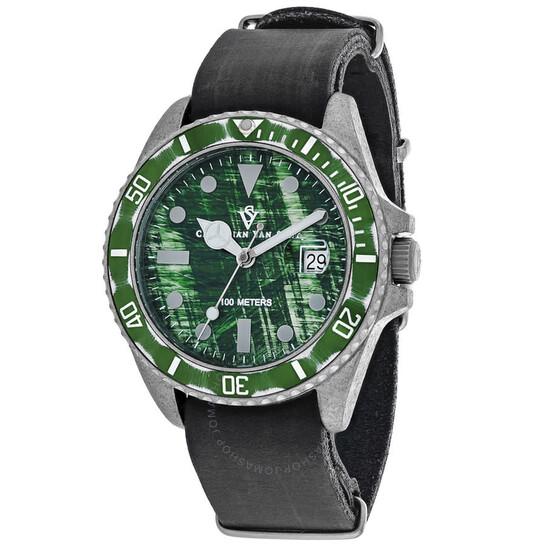 Christian Van Sant Montego Vintage Quartz Green Dial Men's Watch CV5202 | Joma Shop