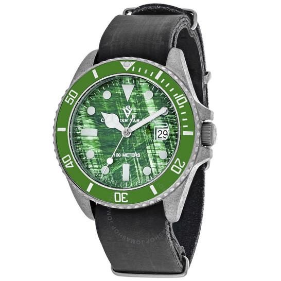 Christian Van Sant Montego Vintage Quartz Green Dial Men's Watch CV5202B | Joma Shop