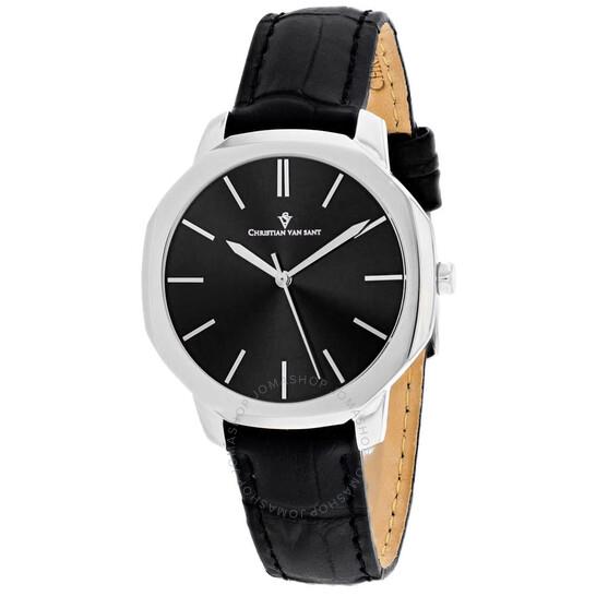 Christian Van Sant Octave Slim Quartz Black Dial Ladies Watch CV0500 | Joma Shop