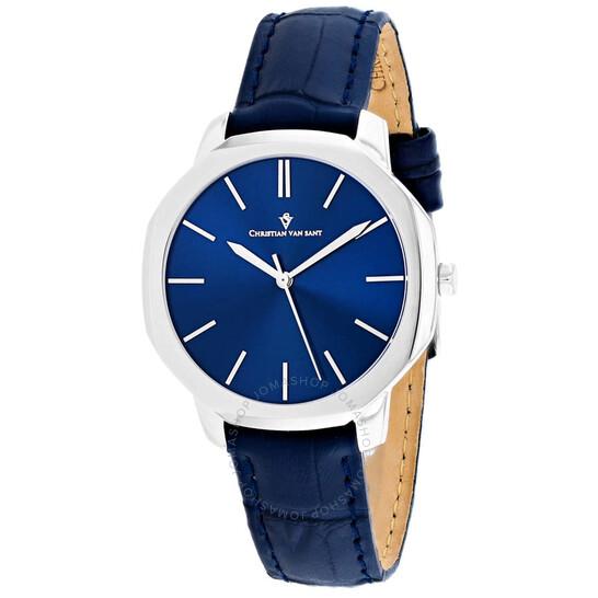 Christian Van Sant Octave Slim Quartz Blue Dial Ladies Watch CV0502   Joma Shop