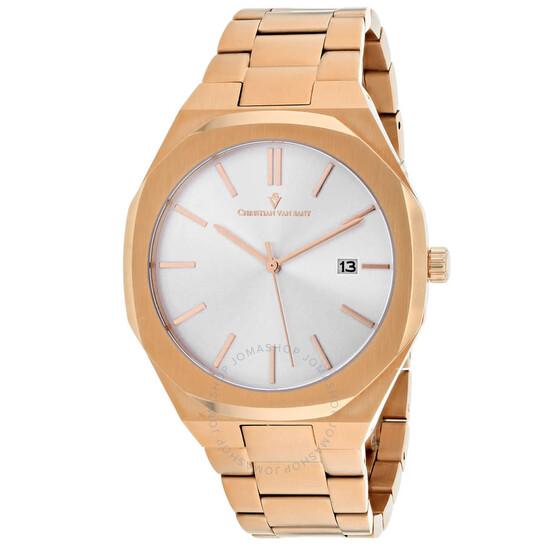 Christian Van Sant Octavius Slim Quartz Silver Dial Men's Watch CV0523 | Joma Shop