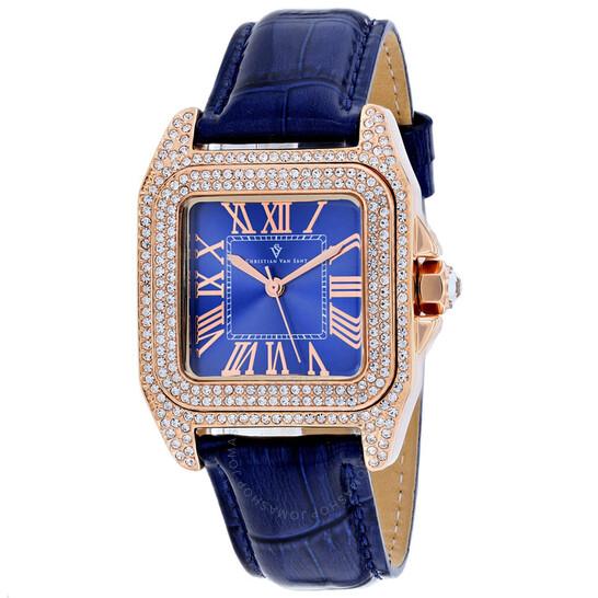 Christian Van Sant Radieuse Quartz Blue Dial Ladies Watch CV4427 | Joma Shop