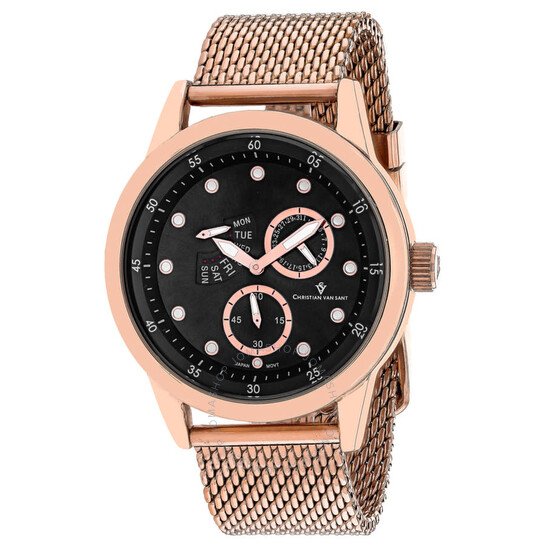 Christian Van Sant Rio Quartz Black Dial Men's Watch CV8714   Joma Shop