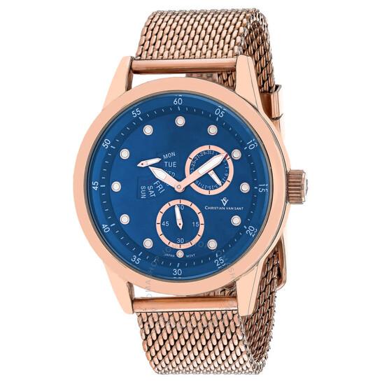 Christian Van Sant Rio Quartz Blue Dial Men's Watch CV8715 | Joma Shop