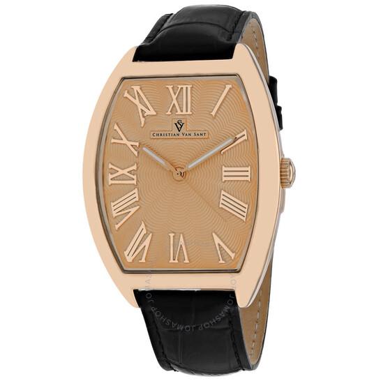 Christian Van Sant Royalty Quartz Rose Gold Dial Men's Watch CV0274 | Joma Shop