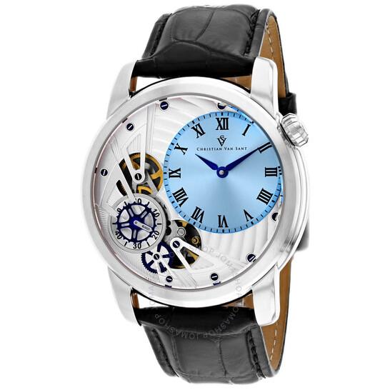 Christian Van Sant Sprocket Auto-Quartz Blue Dial Men's Watch CV1543 | Joma Shop
