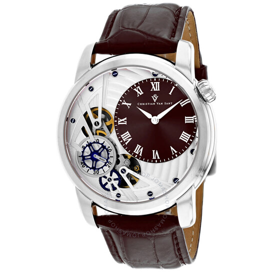 Christian Van Sant Sprocket Auto-Quartz Brown Dial Men's Watch CV1544   Joma Shop