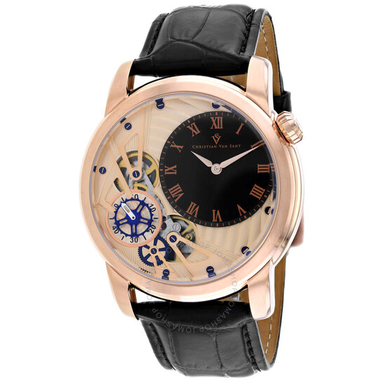 Christian Van Sant Sprocket Auto-Quartz Rose Gold Dial Men's Watch CV1546 | Joma Shop