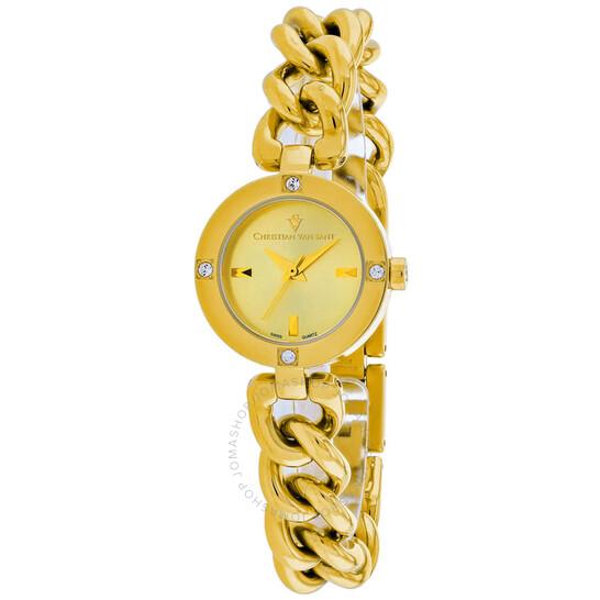 Christian Van Sant Sultry Quartz Gold Dial Ladies Watch CV0215 | Joma Shop